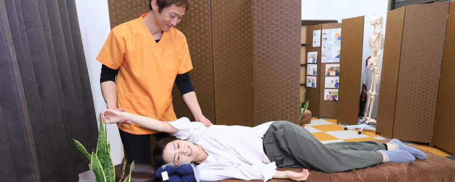 手足のシビレ施術